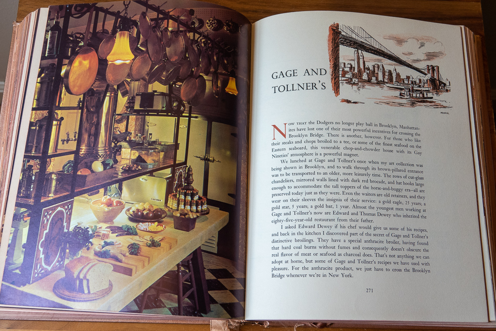 Vincent Price Cookbook Gage and Tollner's