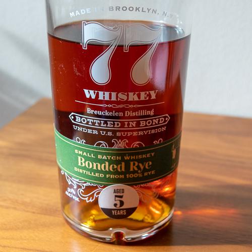 Breuckelen Distillery bonded rye whiskey.