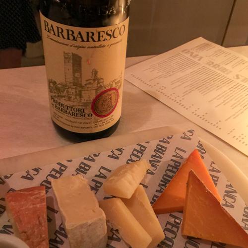 La Pecora Bianca cheese and Produttori del Barbaresco