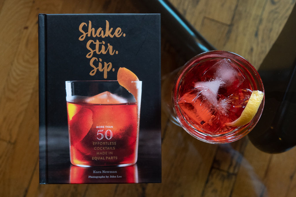 Kara Newman's book Shake Stir Sip, and the Old Pal cocktail.