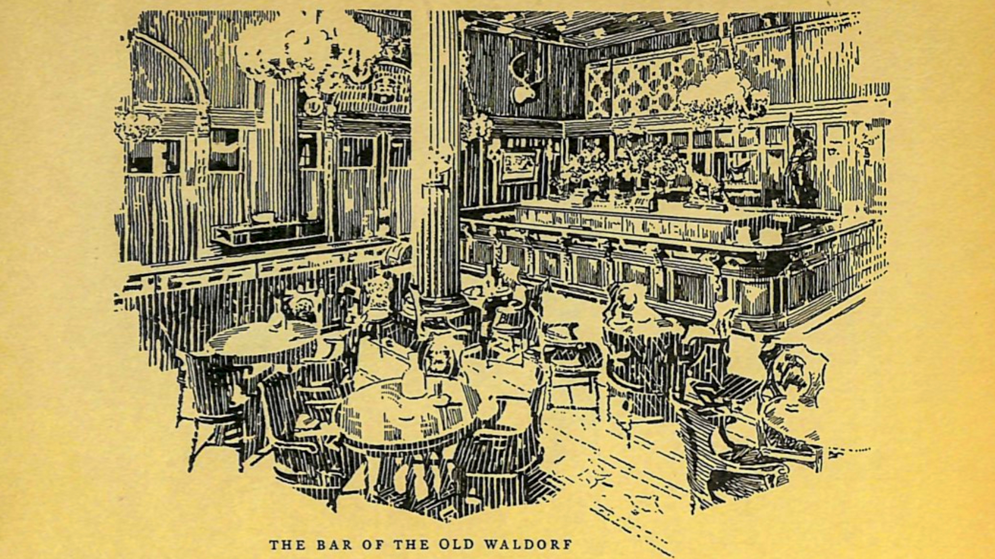 The bar of the old Waldorf hotel
