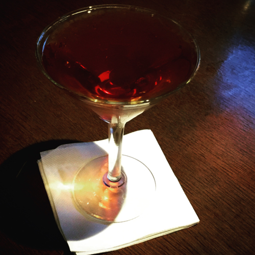 Bobby Burns cocktail at Hudson Malone in NYC.