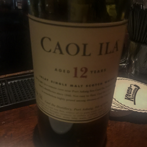 Caol Ila single malt Scotch Whiskey.