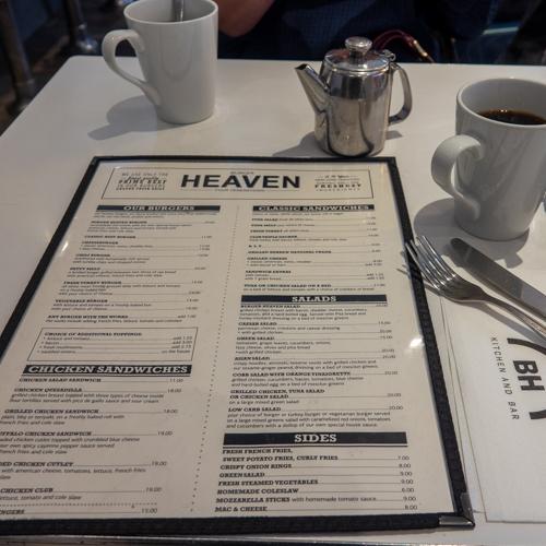 Burger Heaven NYC menu