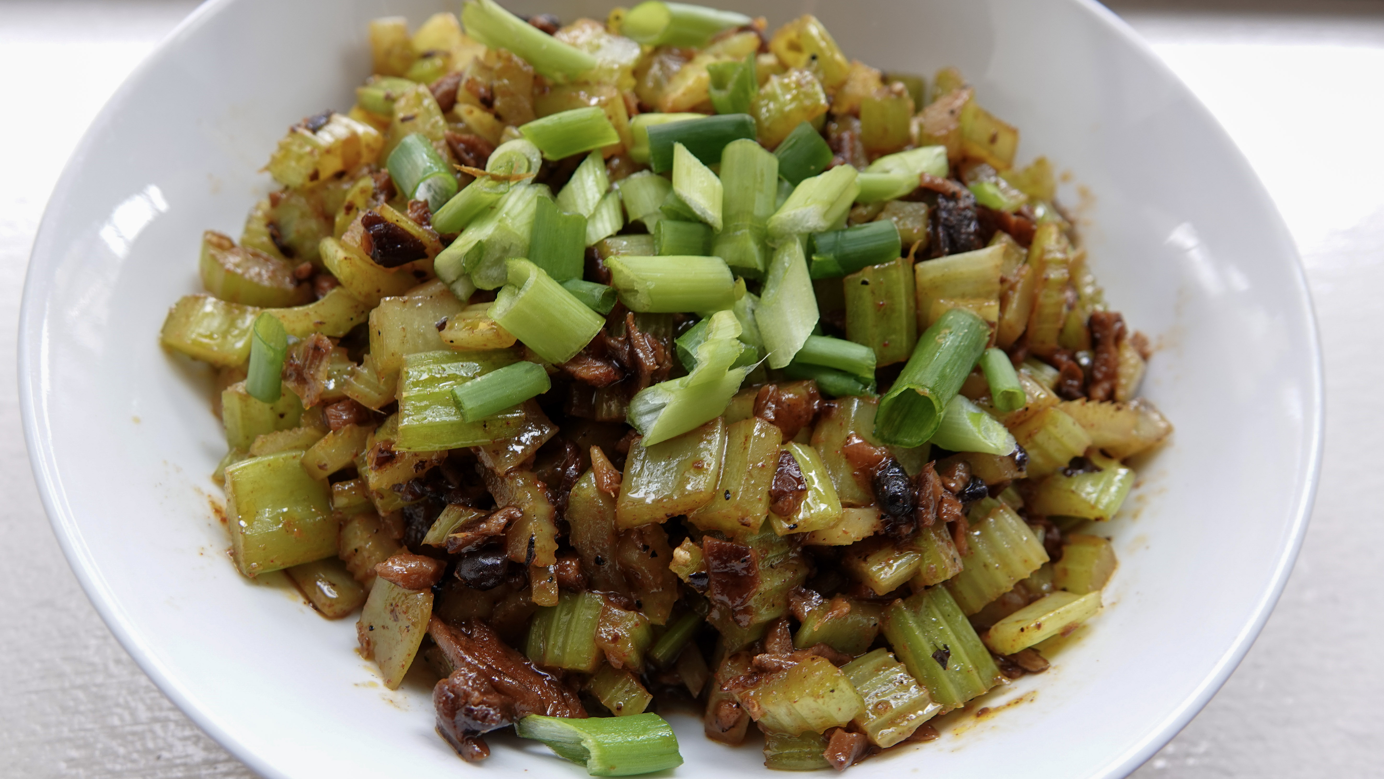 Vegan Sichuan Stir Fried Celery