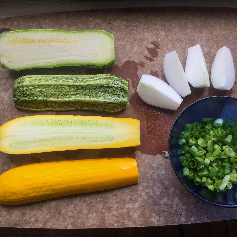 Zucchini Pancakes ingredients
