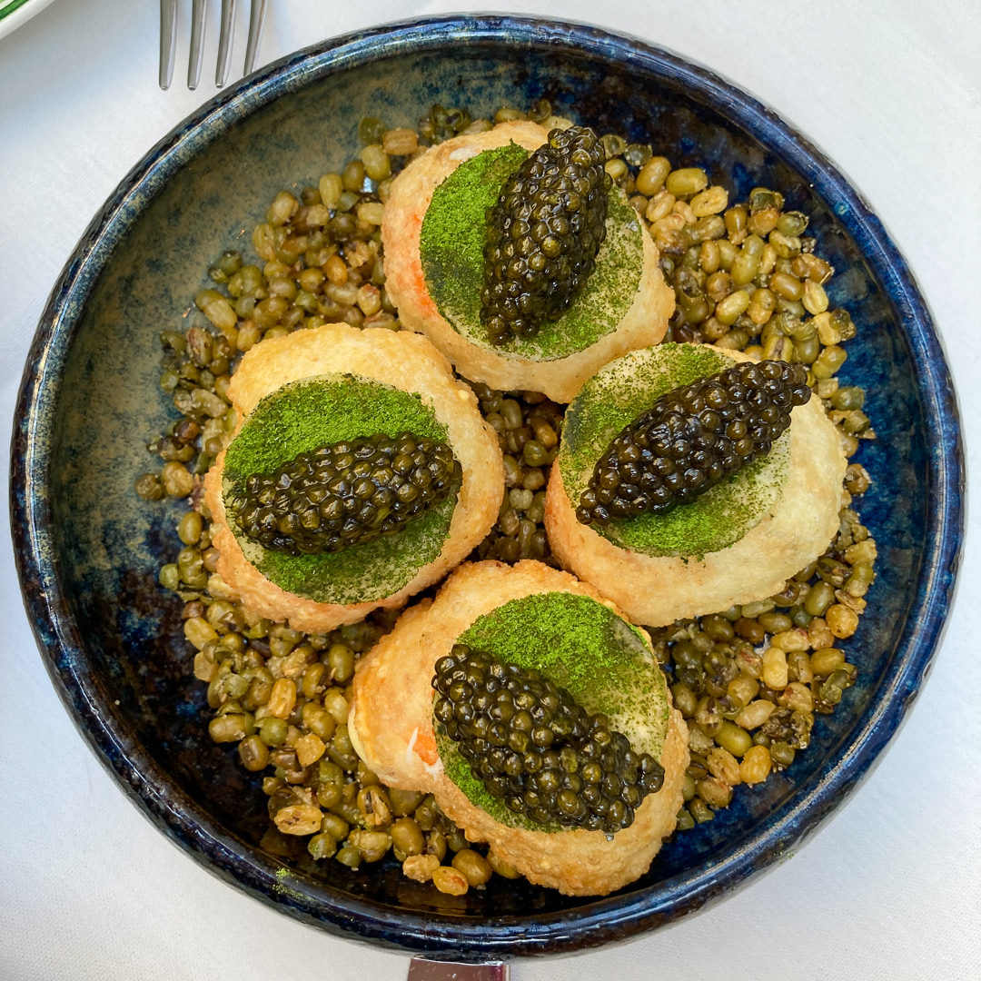 Crab Poori and Caviar